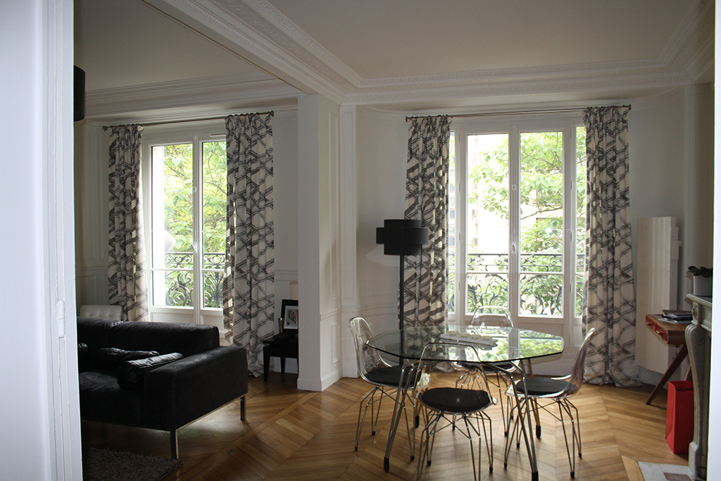 Architecture int rieure appartement haussmannien paris 15 for Interieur haussmannien