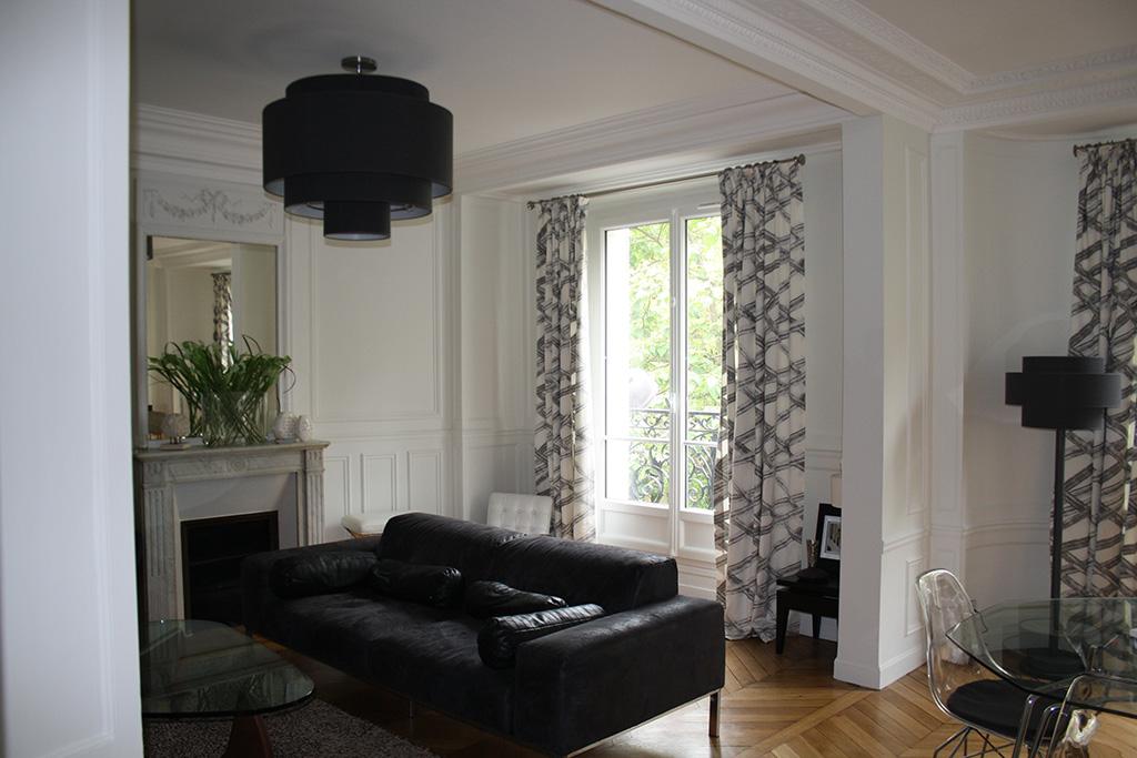 Architecture int rieure appartement haussmannien paris 15 for Interieur haussmannien