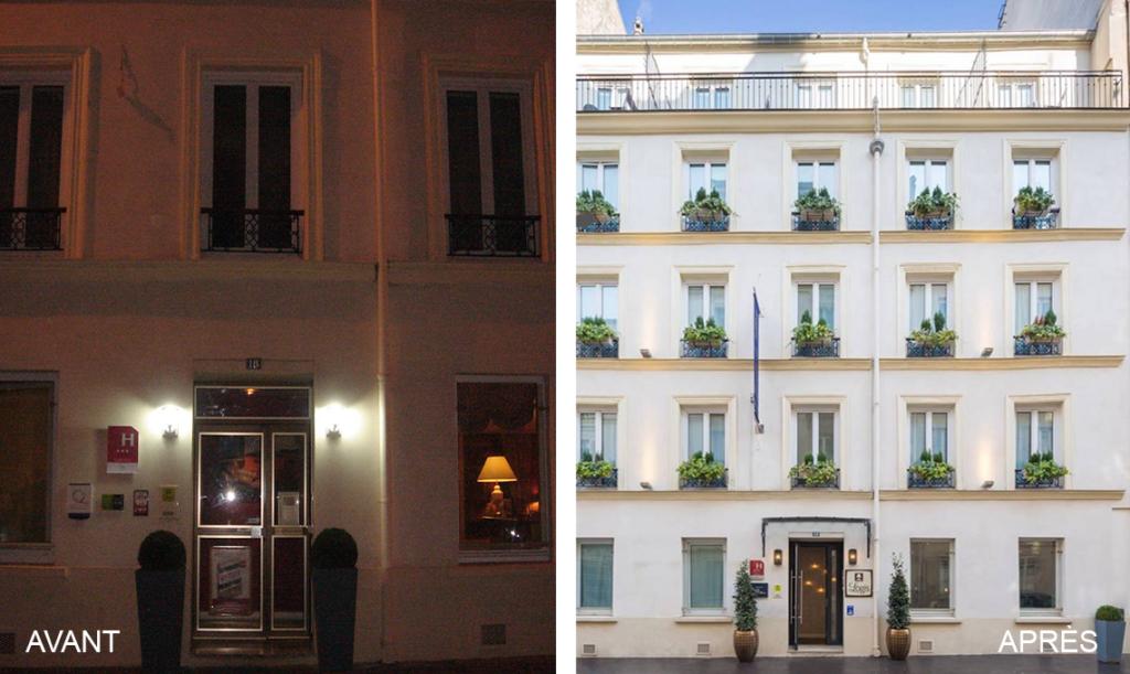 avant-après façade hôtel