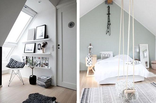 aménagement de combles : entrée et chambre