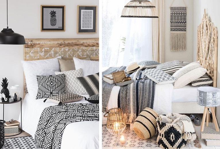 Decoration ethnic chic chambre