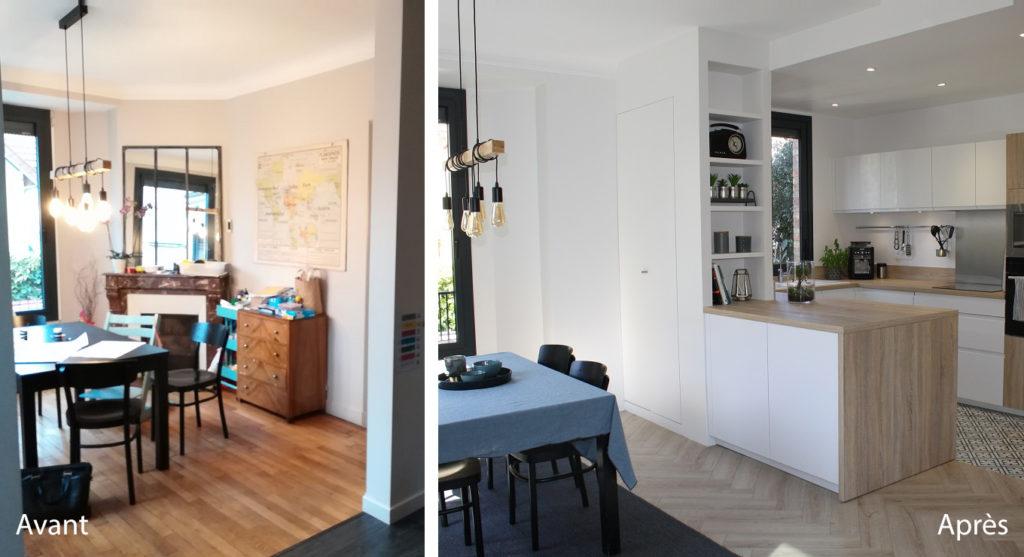 Architecture d coration int rieure maison chaville 92 - Renovation maison avant apres ...
