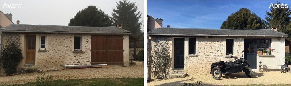 façade Airbnb Bullion avant-après