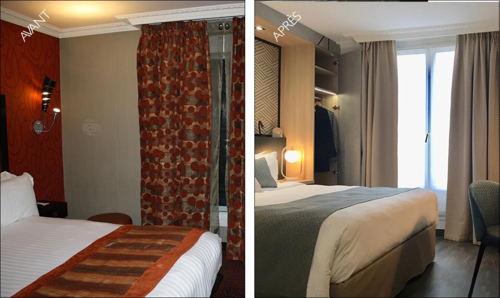 chambre avant-après hôtel
