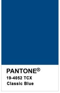 Couleur pantone de l'année 2020 : le classic blue