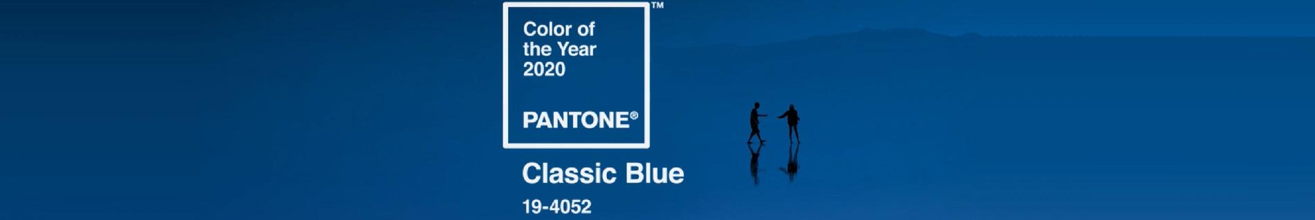 Couleur pantone de l'année 2020 : Classic blue