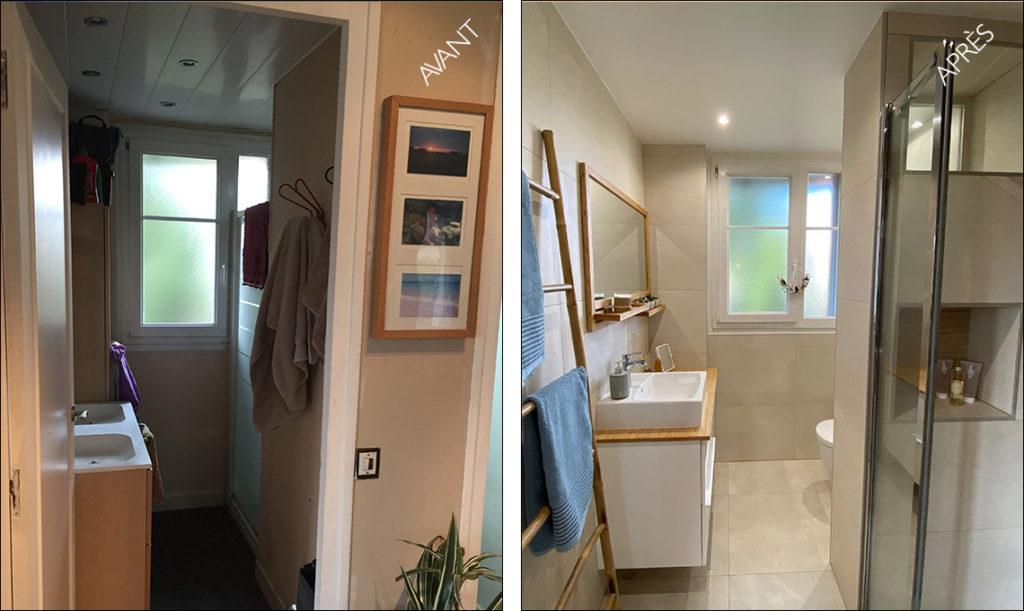 salle de douche avant après